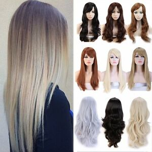 48cm-58cm-Long-Wig-Light-Blonde-Red-Grey-Full-Hair-Wigs-New-Women-Ladies-Party