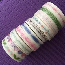Washi Tape Lot Of 10 slim skinny whole roll Set Washitapes For Planner NEW B