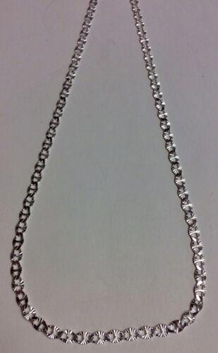 REAL Sterling Silver Diamond Cut Mariner lien Design chaîne Collier