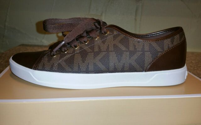 7fbb48ee0ed27 New michael kors womens city sneaker signature size nib brown jpg 640x400 Michael  kors city sneaker