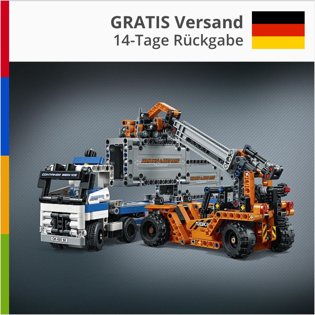 Lego Technic Container Stapler Auto Auto Auto Spielzeug Bausatz