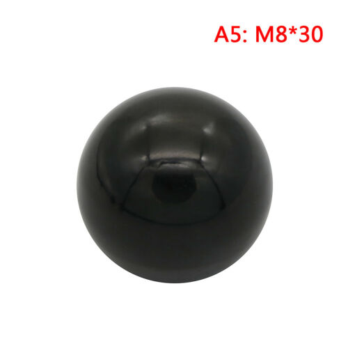 Black plastic M4//M5//M6//M8//M10//M12 thread ball shaped head clamping nuts knob YJ