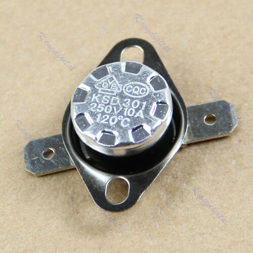 NC Temperature Controlled Switch Thermostat 250V 10A KSD301 120°C Normal Close