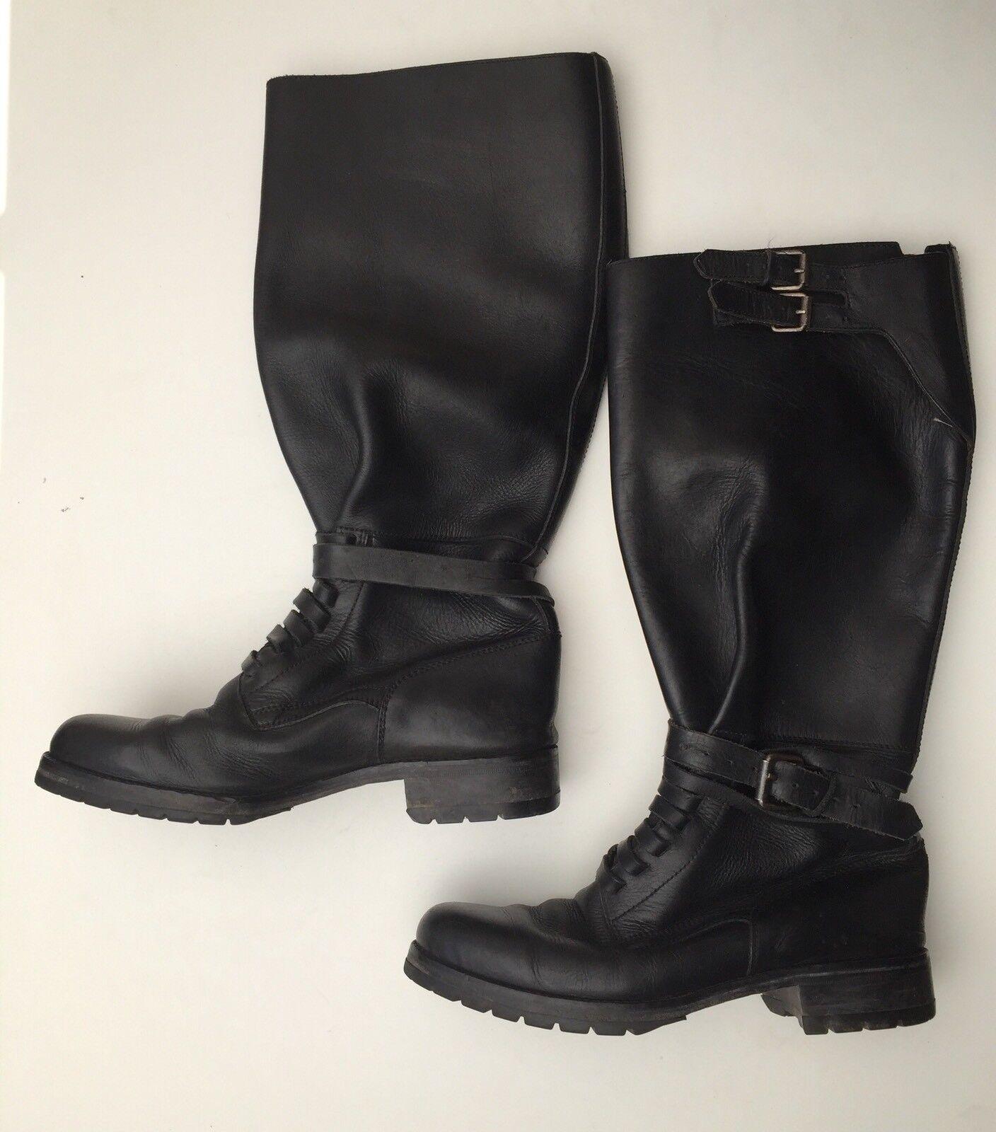 Ralph Lauren femme 16  Bottes 506787 en cuir noir taille 6