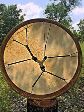 28' Shaman Drum,  frame drum,  Deer hide, handcrafted