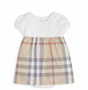 f6e4f4fd592 Image is loading Burberry-Baby-Girl-Short-Sleeve-Check-Dress-Size-