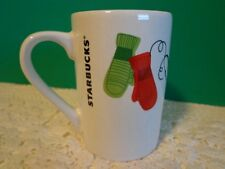 Starbucks Winter Mittens Coffee Cup 10 oz Mug Red Green Gloves Holiday Tea Cup