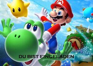 Super-Mario-Einladungskarten-6er-Set-6-Umschlaege-Kindergeburtstag-T1