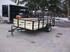 Brand New 82x12 27 Wooded High Side 3 Board Utility Trailer Tmt Toledo Built