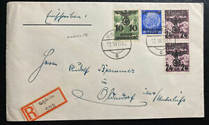 1940 Gabin Poland Germany GG Registered cover Provisional Stamps