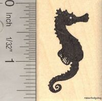 Seahorse Silhouette Rubber Stamp, Sea Horse D15614