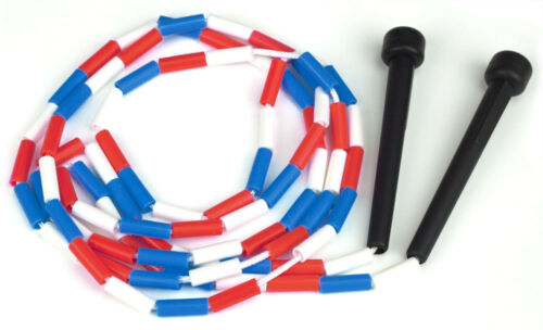 Foot Jump Rope With Plastic Segments Red White K-Roo Sports New 7 and Blue