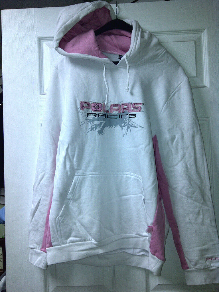 Women's Polaris White Pink Hoodie    NWT Warm and look good Snowmobiling