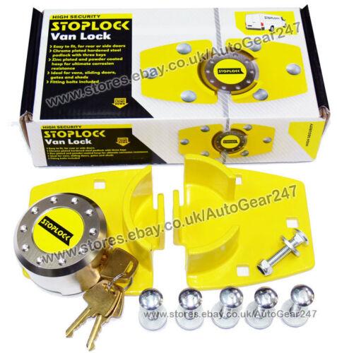 Stoplock Security Anti-Theft Garage Shed Gate Van Sliding Doors Hasp /& Pad Lock
