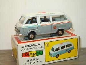 Toyota-Hiace-Japan-Air-Lines-Diapet-Yonezawa-Toys-Japan-1-40-in-Box-34305