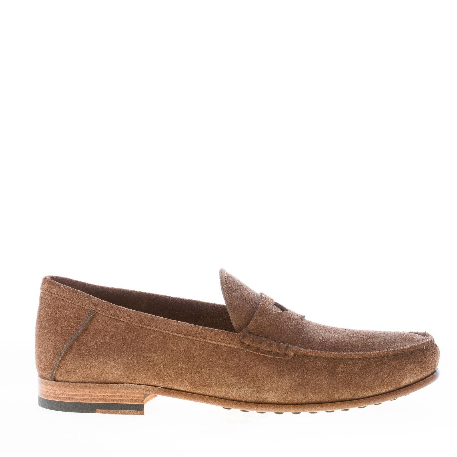 TOD'S herren schuhe men shoes brown suede penny loafer leather sole