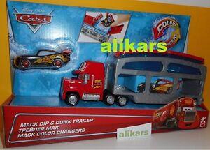 MACK-DIP-amp-DUNK-TRAILER-COLOUR-Changers-LIGHTNING-McQUEEN-Disney-Mattel-Cars