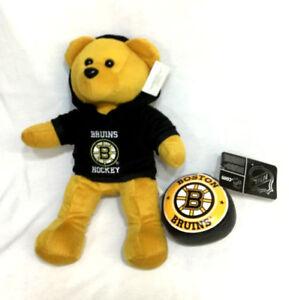 2fd090d58dc NHL Boston Bruins Teddy Bear Plush Furry 12 Inch   Soft Mini Hockey ...