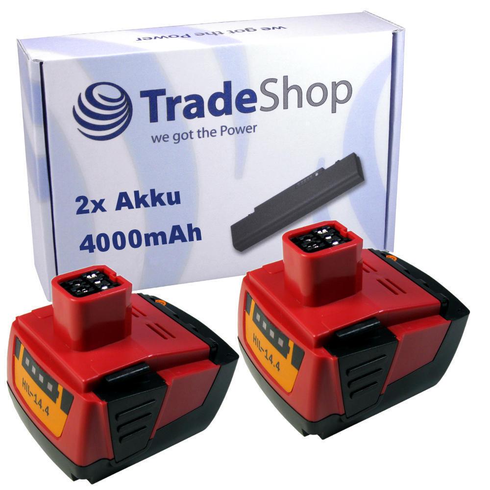 2x AKKU 14,4V 4000mAh ersetzt Hilti B144 für SF144 SFH144 SID144 SIW144