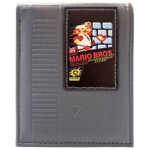 NEW-OFFICIAL-NINTENDO-NES-MARIO-BROS-CARTRIDGE-GREY-COIN-amp-CARD-BI-FOLD-WALLET