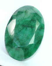221.202 CT NATURAL GREEN EMERALD LOOSE OVAL ZAMBIAN GEMSTONE FREE SHIPPING