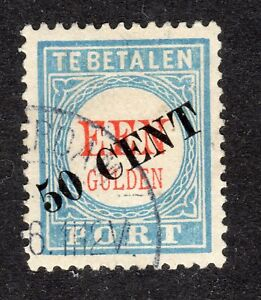 NETHERLANDS-STAMP-J27-50c-OVERPRINT-POSTAGE-DUE-1906-USED