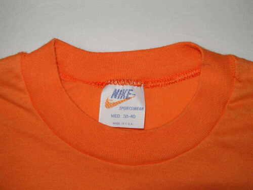 s Orange Vintage Tag 70s 80s Ganador Nike Tennis Shirt M 1000 Club Hombres 7BwxXq