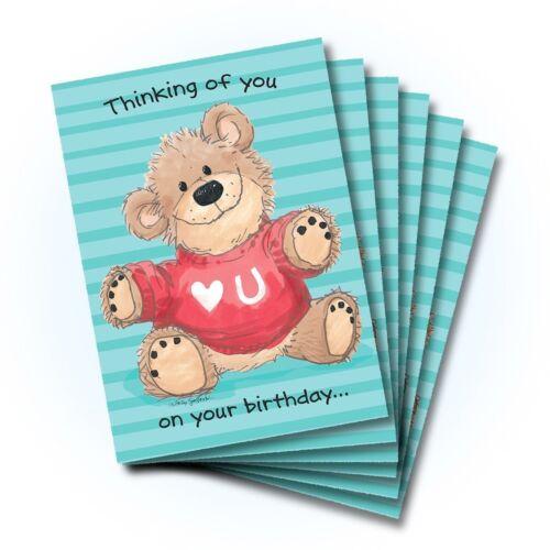 Suzy/'s Zoo Happy Birthday Greeting Card 6-pack 10209