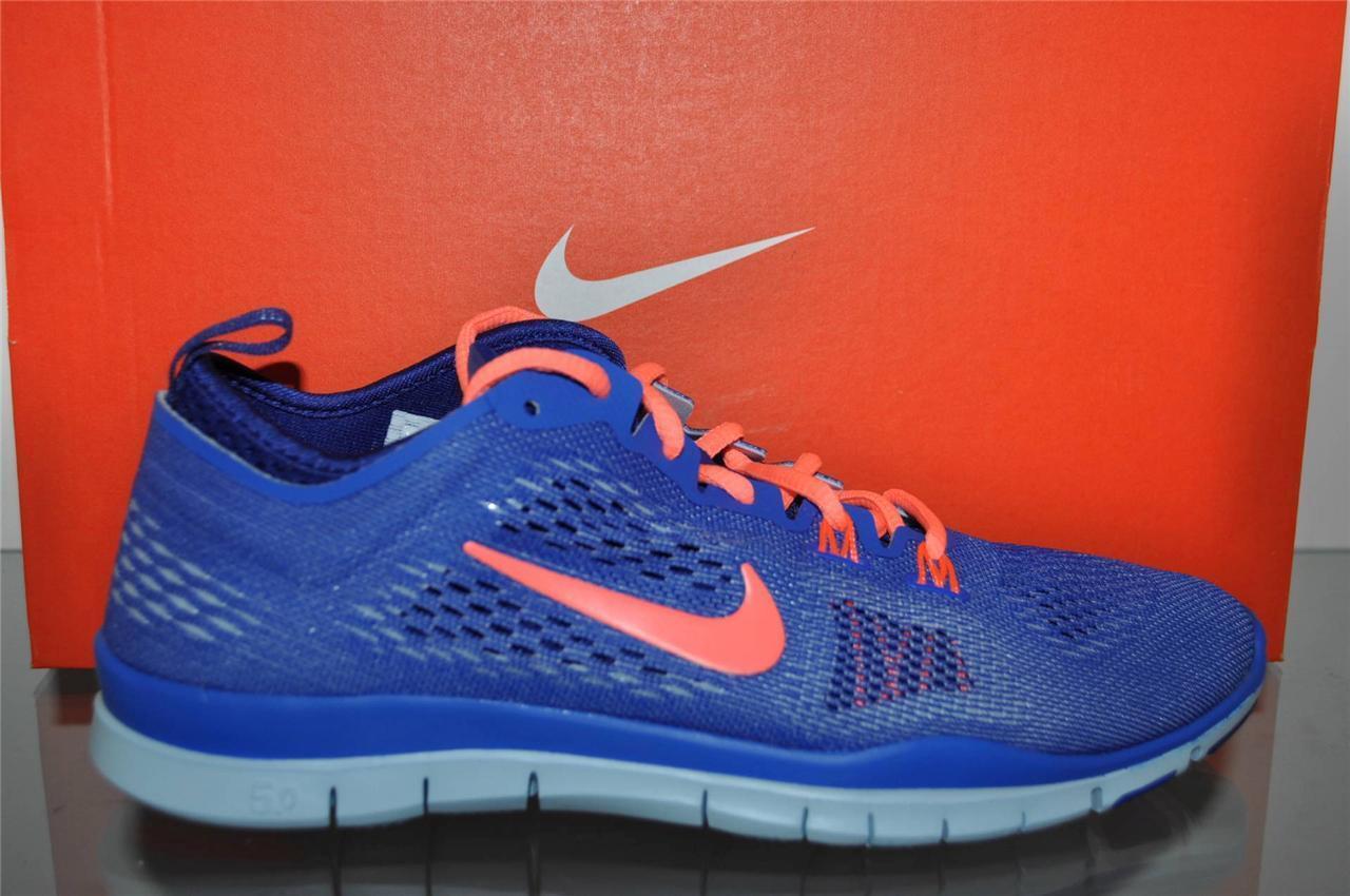 Nike Free 5.0 TR Fit 4 donna Running scarpe 629496 401 Cobalt Mango NIB