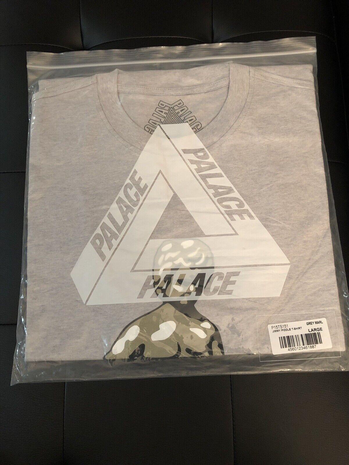 Brand New Palace Jimmy Piddle T-hemd grau Marl groß