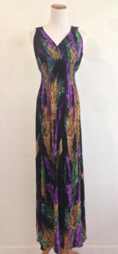 Maxi Long Dress V Neck Lacey Floral Back Evening Party Club Boho Hawaiian S-XL