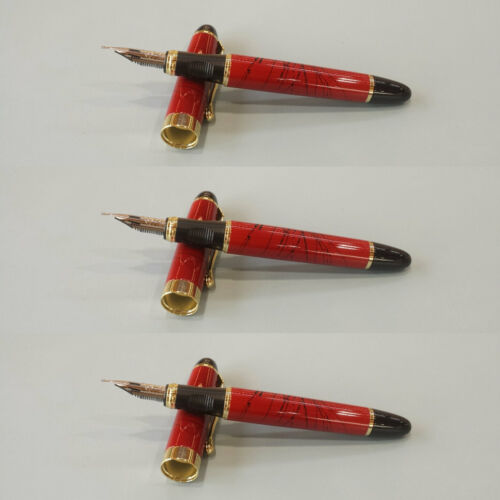 Jinhao X450 Red Zebra G Marble Fountain Pen GT,Flex Nib Calligraphy Zebra