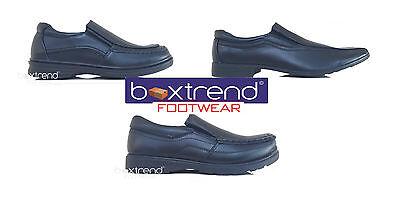 Nuevos CHICOS Zapatos Escolares Slip On Boda Smart Kids Niños Fiesta Negro Casual 8-6