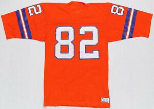 low priced 9b13f 3791d Details about Vintage Denver Broncos Sand Knit Orange NFL Football Jersey  Mens Size Medium