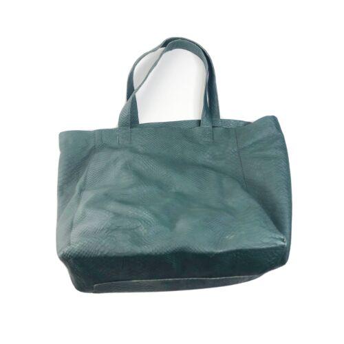 BAGATELLE CITY Green Genuine Leather Tote Shoulder