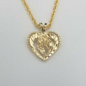 """14KT GOLD EP NUMBER /""""84/"""" DIAMOND CUT CHARM"""