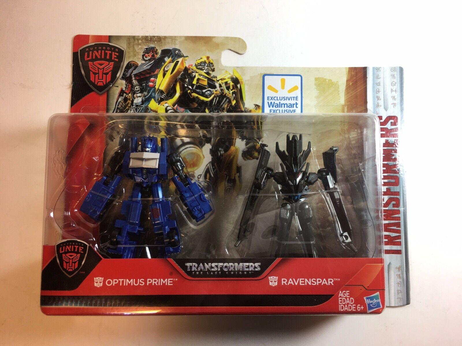 Raro Optimus Prime ravenspar leyendas Transformers el último caballero Walmart Rara