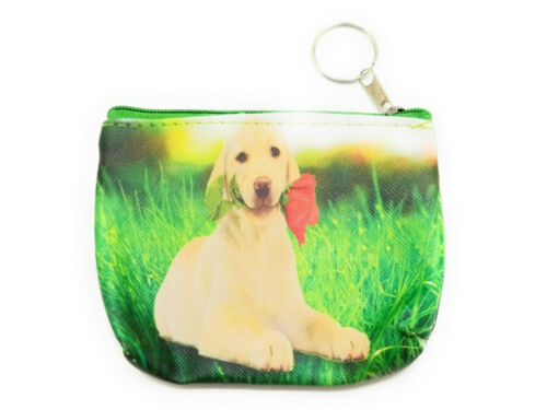 "4.5/"" x 3.5/"" Double Sided Puppy Zipper Coin Purse ~ Great Gift Idea!"