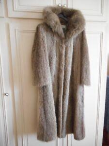 Manteau fourrure femme ragondin