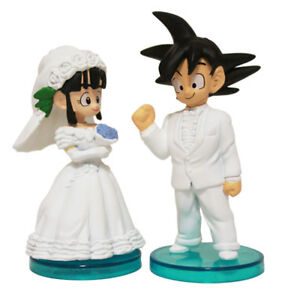 2Pcs-Set-DBZ-Dragon-Ball-Z-Son-Goku-ChiChi-Wedding-PVC-Action-Figure-Model-Toys