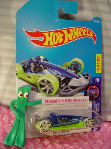 TRACK HAMMER #232✰blue//Sublime green✰GLOW WHEELS✰✰2017 i Hot Wheels case K//L