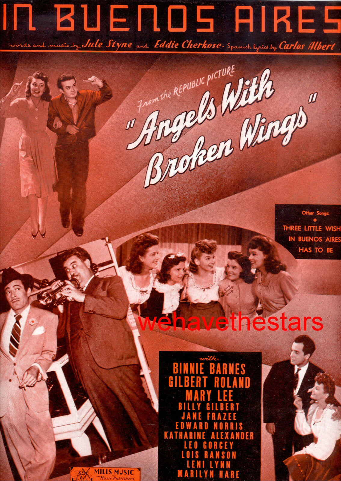 Angels With Broken Wings Blatt Musik   in Buenos Aires   Leo Gorcey Mary