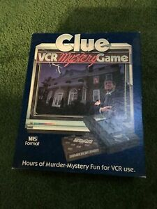 Clue VCR Mystery Game 1985 Parker Brothers Complete