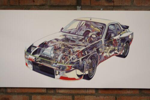Porsche 944 VOITURE DE COURSE PVC Large Work Shop Bannière Garage Car Show Bannière