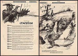 John-Boorman-039-s-MERLIN-EXCALIBUR-Original-1976-Trade-print-AD-promo-poster