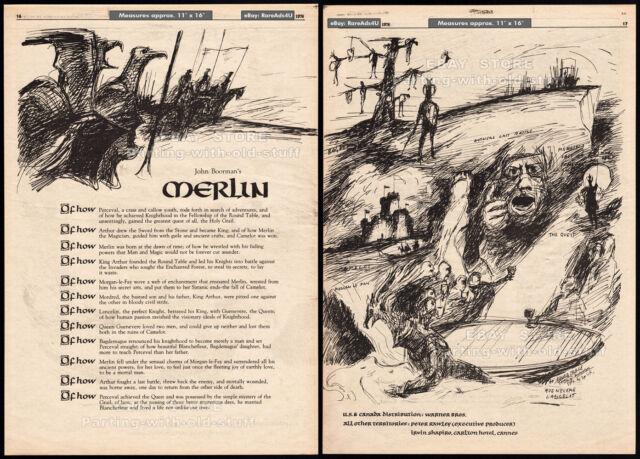 John Boorman's MERLIN_/_EXCALIBUR__Original 1976 Trade print AD promo / poster