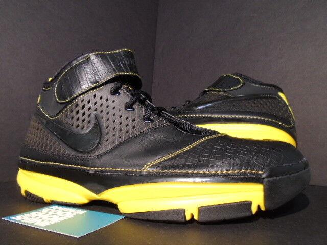 2007 Nike Zoom KOBE II 2 CARPE DIEM Noir MAIZE Jaune 316022-001 NEW 12