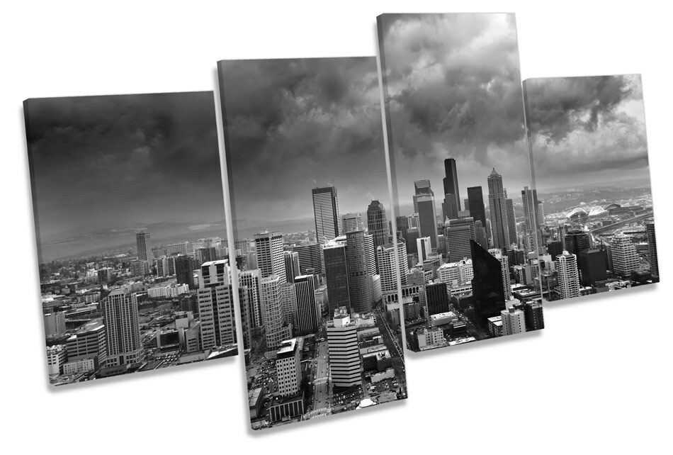 Seattle horizonte de la Multi ciudad de Washington Multi la tela pa rojo  arte de imprimir imágenes 8f486a