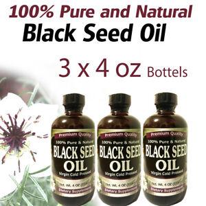 3-x-4-fl-oz-100-Pure-amp-Natural-Black-Cumin-Seed-Oil-Cold-Pressed-Non-GMO