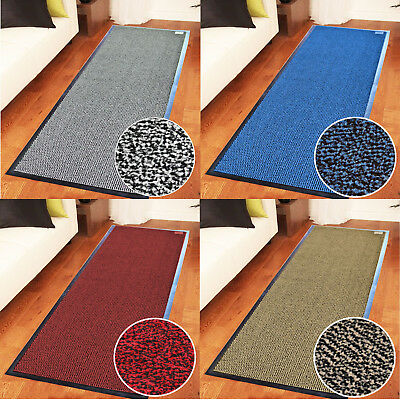 Heavy Duty Non Slip Rubber Barrier Mat Rugs Back Door Hall Kitchen Blue 90x150cm